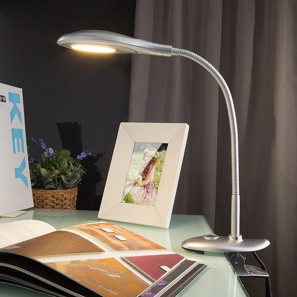 Светодиодная настольная лампа 90198/1 серебристый