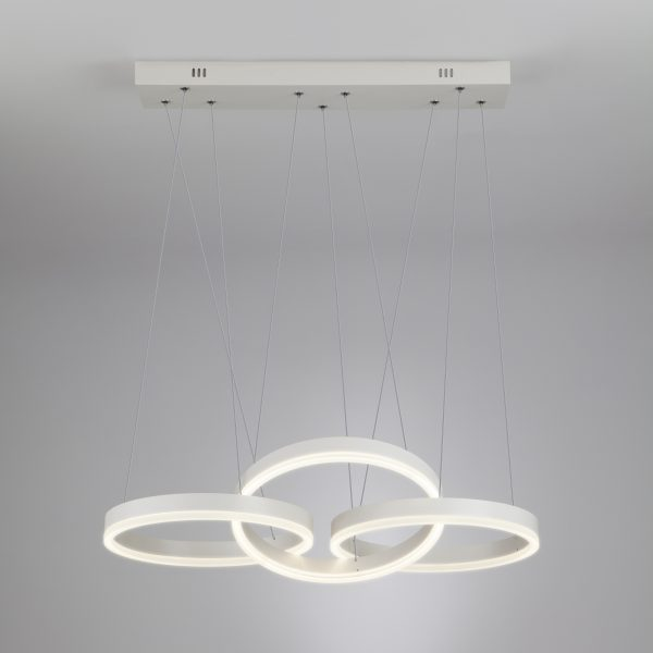 Светодиодный подвесной светильник 90070/3 белый