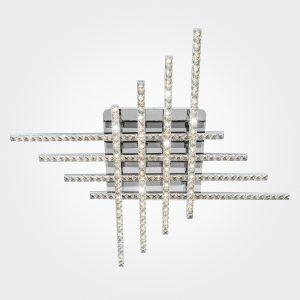 Светодиодный потолочный светильник с хрусталем 90041/8 хром