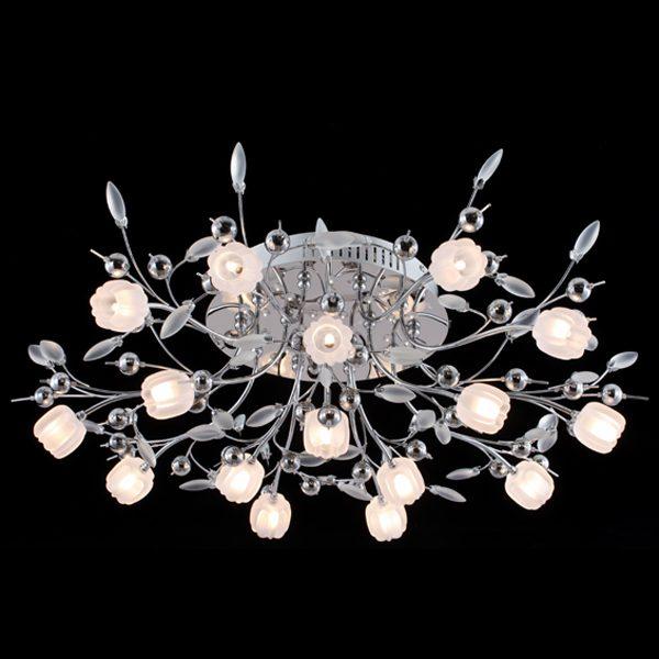 Светодиодный потолочный светильник 5117/16 хром/белый
