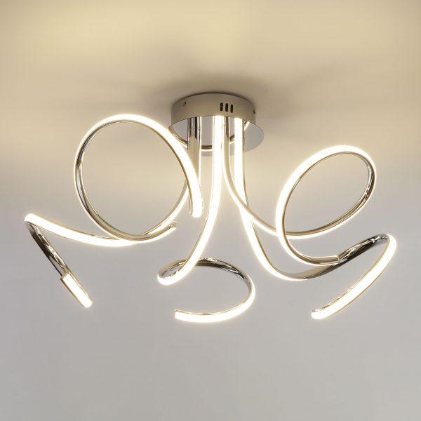 Светодиодный потолочный светильник 90068/5 хром