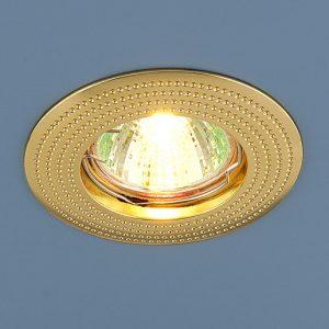 Точечный светильник золотой Elektrostandard 601 MR16 GD золото