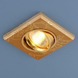 Точечный светильник квадратный Elektrostandard 2080 MR16 GD золото
