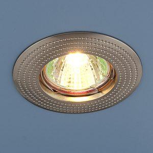 Точечный светильник круглый Elektrostandard 601 MR16 SN сатин никель
