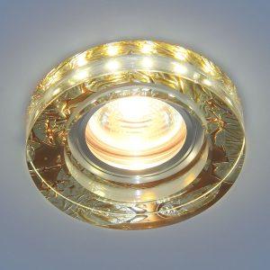 Точечный светильник со светодиодами Elektrostandard 2190 MR16 PK розовый перламутр