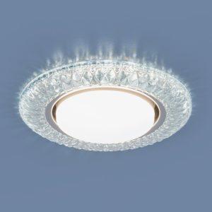 Точечный светильник со светодиодами Elektrostandard 3020 GX53 CL прозрачный
