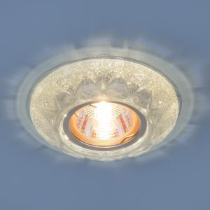 Точечный светильник со светодиодами Elektrostandard 7249 MR16 SL серебряный блеск