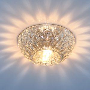 Точечный светильник со стеклом Elektrostandard 1101 G9 CL прозрачный