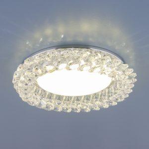 Точечный светильник с хрусталем Elektrostandard 1063 GX53 CH / CL хром / прозрачный