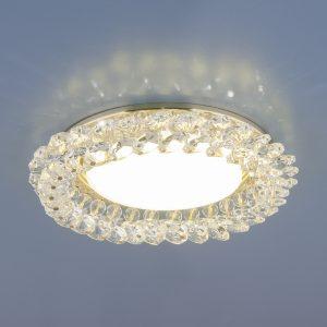 Точечный светильник с хрусталем Elektrostandard 1063 GX53 GD / CL золото / прозрачный