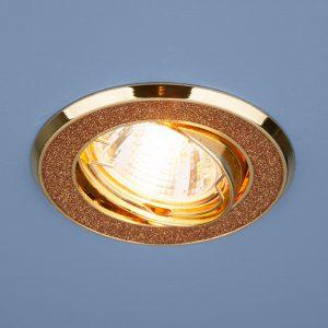 Точечный светильник Elektrostandard 611 MR16 GD золотой блеск/золото