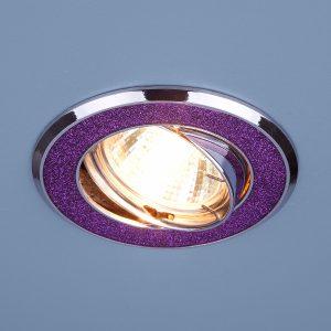 Точечный светильник Elektrostandard 611 MR16 MUС малиновый блеск/хром
