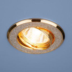 Точечный светильник Elektrostandard 611 MR16 SL/GD серебряный блеск/золото