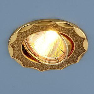 Точечный светильник Elektrostandard 612 MR16 GD золотой блеск/золото