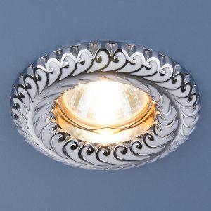 Точечный светильник Elektrostandard 7001 MR16 WH/SL белый/серебро