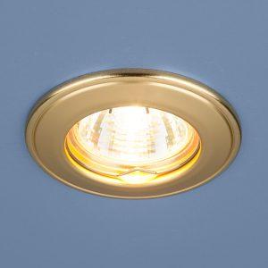 Точечный светильник Elektrostandard 7002 MR16 GD матовое золото