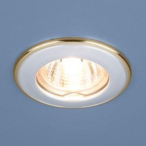 Точечный светильник Elektrostandard 7002 MR16 WH/GD белый/золото