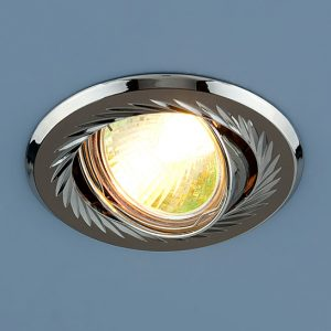 Точечный светильник Elektrostandard 704 CX MR16 GU/SL черный/серебро