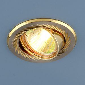 Точечный светильник Elektrostandard 704 CX MR16 SN/GD сатин никель/золото