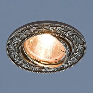 Точечный светильник Elektrostandard 713 MR16 GU/SL черный/серебро