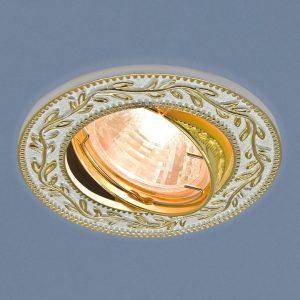 Точечный светильник Elektrostandard 713 MR16 WH/GD белый/золото