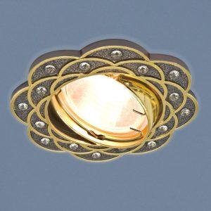Точечный светильник Elektrostandard 8006 MR16 GU/GD черный/золото
