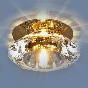 Точечный светильник Elektrostandard 8016 G4 GD/CL золото/прозрачный