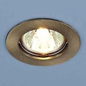 Точечный светильник Elektrostandard 863 MR16 SB бронза