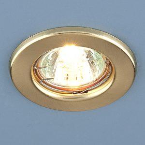 Точечный светильник Elektrostandard 9210 MR16 SGD золото матовое
