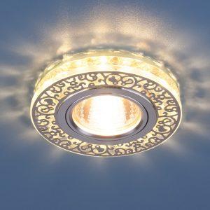 Точечный светодиодный светильник с хрусталем Elektrostandard 6034 MR16 CH/CL хром/прозрачный