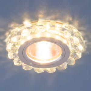 Точечный светодиодный светильник с хрусталем Elektrostandard 6036 MR16 СL прозрачный