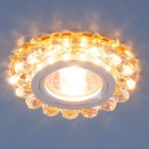 Точечный светодиодный светильник с хрусталем Elektrostandard 6036 MR16 GD золото