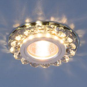 Точечный светодиодный светильник с хрусталем Elektrostandard 6036 MR16 Gr дымчатый