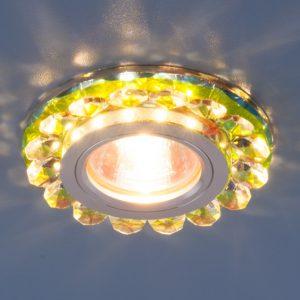 Точечный светодиодный светильник с хрусталем Elektrostandard 6036 MR16 MLT мульти