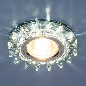 Точечный светодиодный светильник с хрусталем Elektrostandard 6037 MR16 BL сапфир/хром