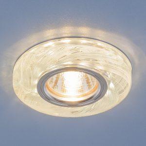 Точечный светодиодный светильник Elektrostandard 2191 MR16 CL/BL прозрачный/голубой