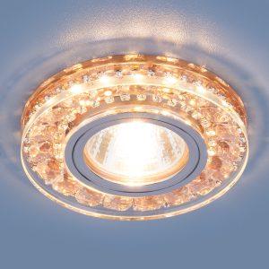 Точечный светодиодный светильник Elektrostandard 2192 MR16 GD шампань