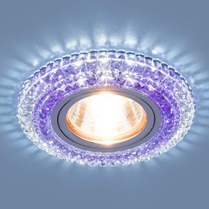 Точечный светодиодный светильник Elektrostandard 2193 MR16 CL/PU прозрачный/фиолетовый
