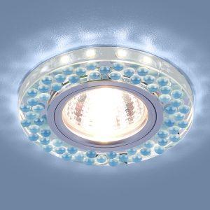 Точечный светодиодный светильник Elektrostandard 2194 MR16 SL/BL зеркальный/голубой