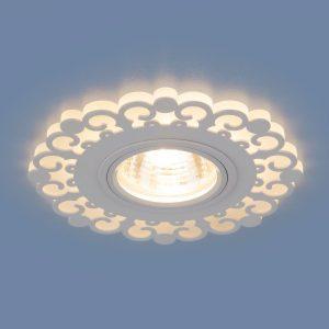 Точечный светодиодный светильник Elektrostandard 2196 MR16 WH белый