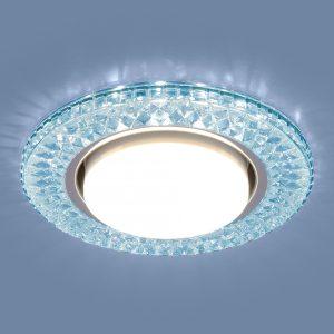 Точечный светодиодный светильник Elektrostandard 3021 GX53 BL лазурный