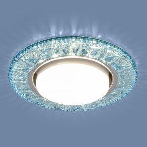 Точечный светодиодный светильник Elektrostandard 3022 GX53 BL лазурный