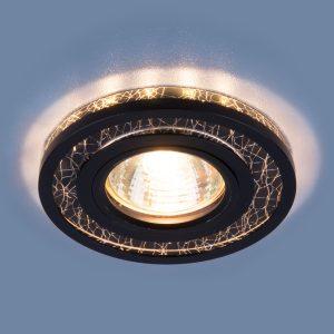 Точечный светодиодный светильник Elektrostandard 7020 MR16 BK/SL черный/серебро