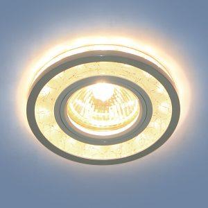 Точечный светодиодный светильник Elektrostandard 7020 MR16 WH/SL белый/серебро