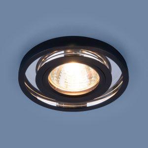 Точечный светодиодный светильник Elektrostandard 7021 MR16 SL/BK зеркальный/черный