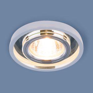 Точечный светодиодный светильник Elektrostandard 7021 MR16 SL/WH зеркальный/белый