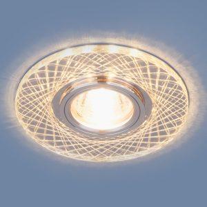 Точечный светодиодный светильник Elektrostandard 8091 MR16 SL/CH зеркальный/хром