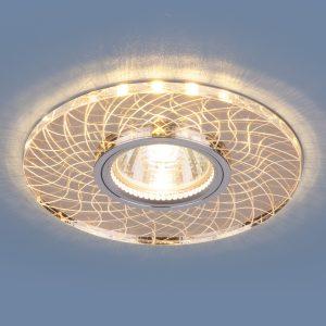 Точечный светодиодный светильник Elektrostandard 8091 MR16 SL/GD зеркальный/золотой