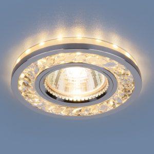 Точечный светодиодный светильник Elektrostandard 8355 MR16 CL/CH прозрачный/хром