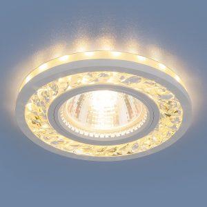 Точечный светодиодный светильник Elektrostandard 8355 MR16 CL/WH прозрачный/белый